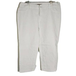Chico Denim White Cropped Capri Pants Stretch Jean
